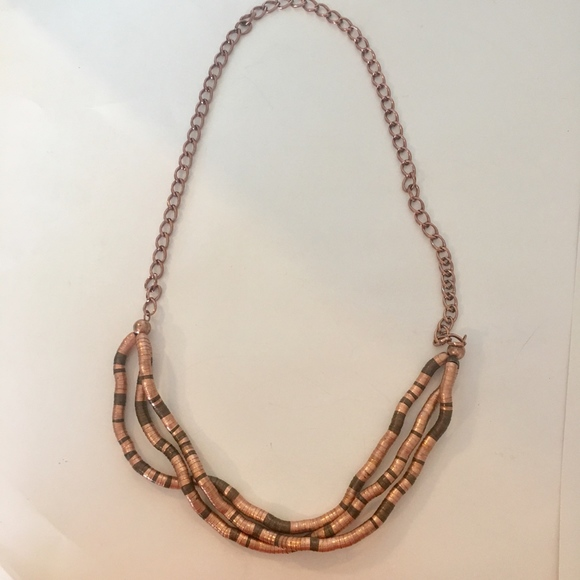 Jewelry - Bendable Twist Snake Necklace Rose Gold Bronze